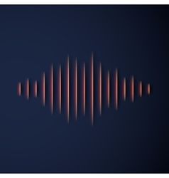 Paper sound waveform with shadow vector image
