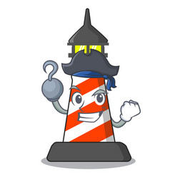 Pirate lighthouse character cartoon style vector