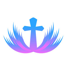 Purple church icon cartoon style vector