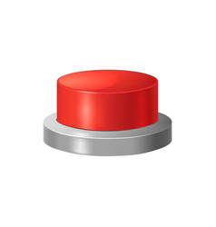 realistic detailed 3d red button vector image