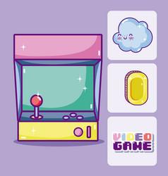Retro videogames cartoons vector
