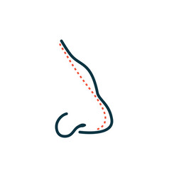 rhinoplasty nose plastic surgey icon vector image