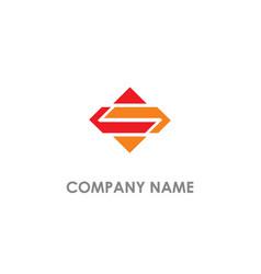 s initial geometry logo vector image