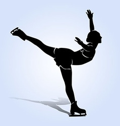 Silhouette figure skaters vector