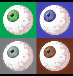 Spooky eyeballs vector