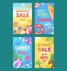 Summer sale best price set vector