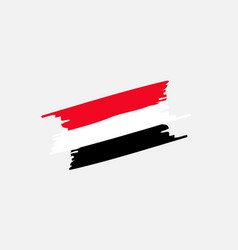 syria brush flag colors vector image