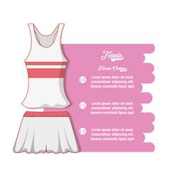 tennis women clothing icon vector image