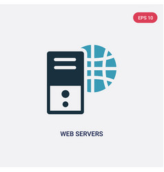 two color web servers icon from technology vector image
