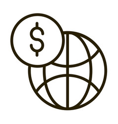 world money financial business stock market line vector image