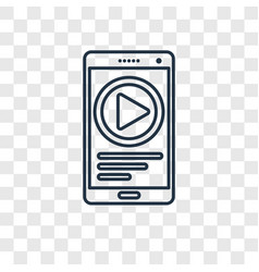 youtube concept linear icon isolated on vector image
