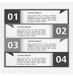 Black and White Design Template vector image vector image
