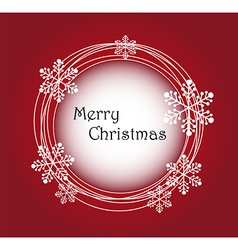 Merry christmas frame background vector image