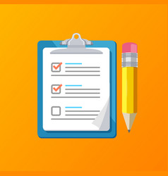 realistic detailed 3d claim form with a pencil vector image