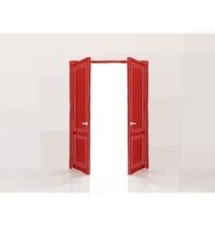 Red doors vector image