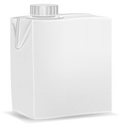 Carton pack template for milk vector image