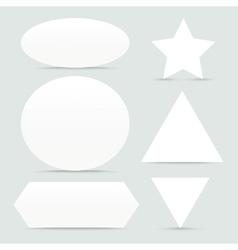 Paper banner Shapes Set vector image