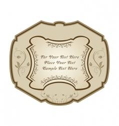 vintage label wine vector image vector image