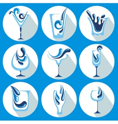 water glasses vector image vector image