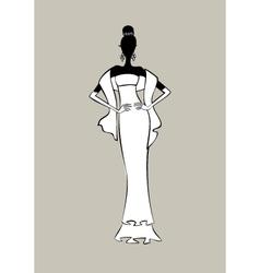 bride fashion sketch vector image vector image