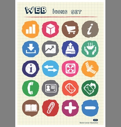 Finance and Internet icons set drawn by chalk vector image vector image