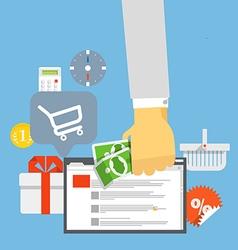 Modern digital shop concept vector image