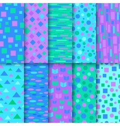 Set of seamless colorful patterns vector image vector image