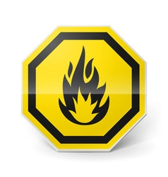 Highly flammable sign vector image