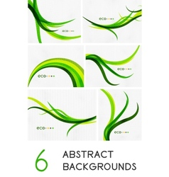 Mega set of spring abstract backgrounds vector image vector image
