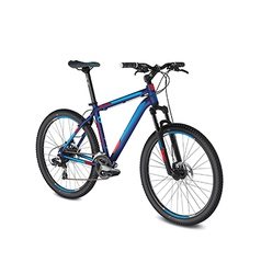 mountain blue red bike vector image vector image