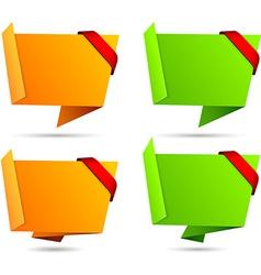 Origami set of wallpaper vector image