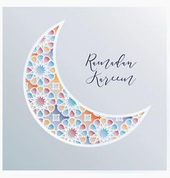 ornamental arabic half moon with decorative vector image vector image