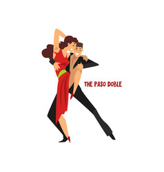 professional dancer couple dancing the paso doble vector image vector image