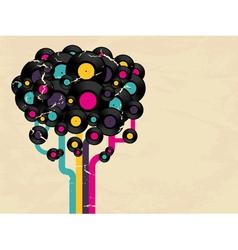 Vinyl record tree vector image vector image