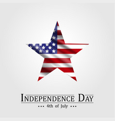 4th of july happy american independence day vector image