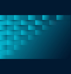 Abstract blue turquoise color modern square vector