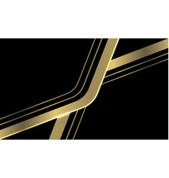 Abstract gold line arrow curve overlap on black vector
