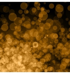 Abstract Golden Background bokeh vector image