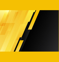 Abstract modern yellow and black stripes vector
