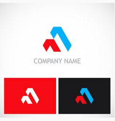 abstract shape triangle company logo vector image