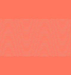 abstract wave pattern on coral background vector image