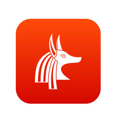 ancient egyptian god anubis icon digital red vector image