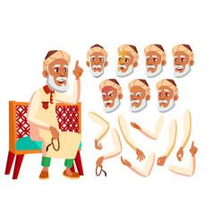 arab muslim old man senior aged elderly vector image