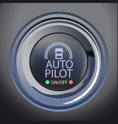 autopilot button vector image