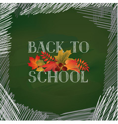 Back to school autumn leaves fall holiday vector