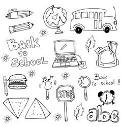 Back to school hand draw doodles vector