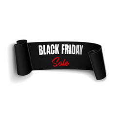 black friday sale background with black vector image