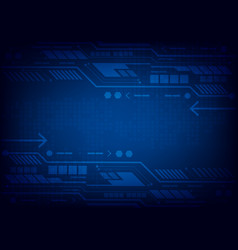 blue abstract background digital technology for vector image
