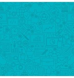Blue SEO Line Tile Pattern vector image vector image
