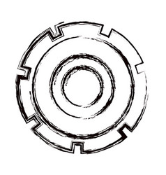 blurred thick contour gear wheel icon vector image